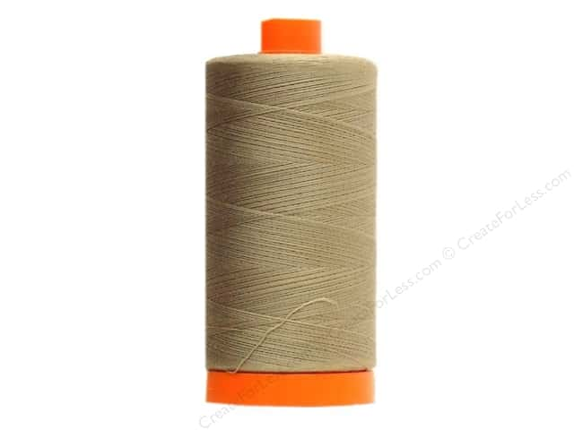 Aurifil Mako Cotton Quilting Thread 50 wt. #2370 Sandstone 1420 yd.