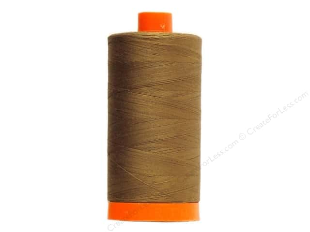 Aurifil Mako Cotton Quilting Thread 50 wt. #2372 Dark Antique Gold 1420 yd.