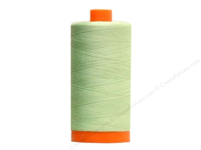 Aurifil Mako Cotton Quilting Thread 50 wt. #2880 Pale Green 1420 yd.