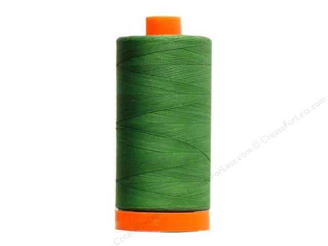 Aurifil Mako Cotton Quilting Thread 50 wt. #2890 Dark Grass Green 1420 yd.