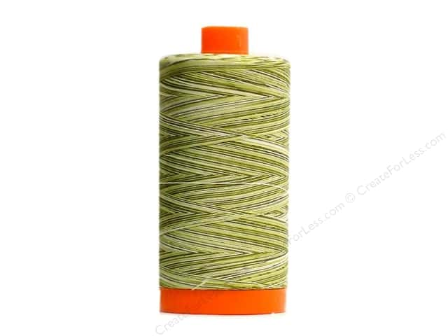 Aurifil Mako Cotton Quilting Thread 50 wt. #4653 Variegated Limeade 1420 yd.