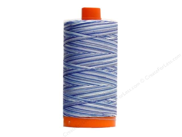 Aurifil Mako Cotton Quilting Thread 50 wt. #4655 Variegated Storm At Sea