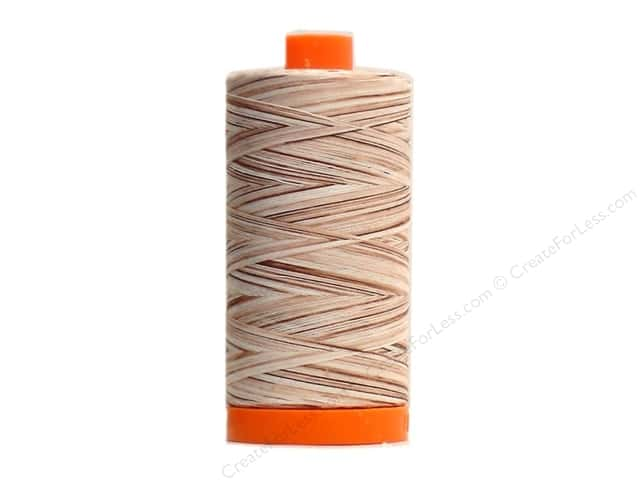 Aurifil Mako Cotton Quilting Thread 50 wt. #4666 Variegated Sand 1420 yd.