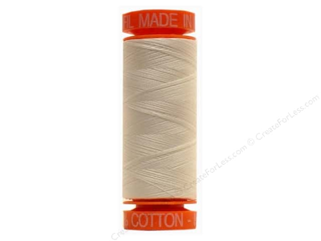 Aurifil Mako Cotton Quilting Thread 50 wt. #2021 Ivory 220 yd.