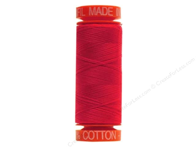 Aurifil Mako Cotton Quilting Thread 50 wt. #2250 Red 220 yd.