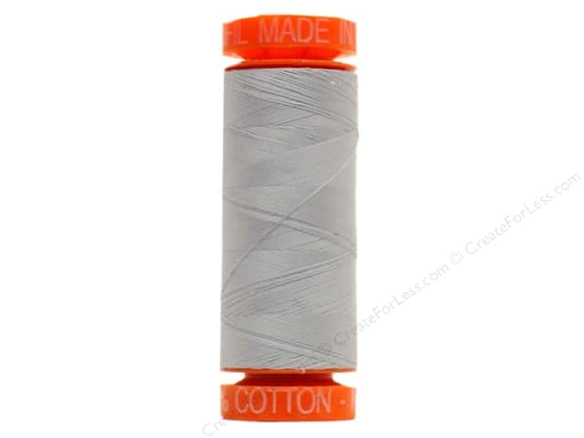 Aurifil Mako Cotton Quilting Thread 50 wt. #2610 Silvery Grey 220 yd.