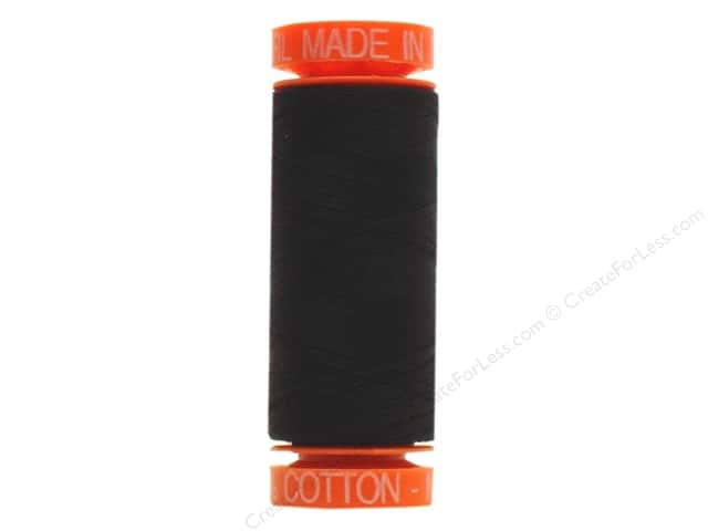 Aurifil Mako Cotton Quilting Thread 50 wt. #2692 Black 220 yd.