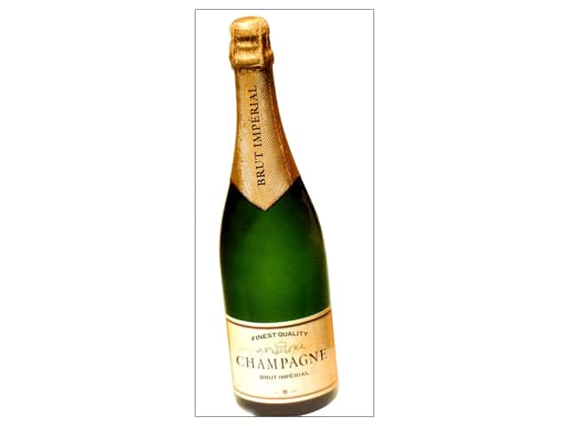 Paper House Diecut Blank Card Champagne Bottle