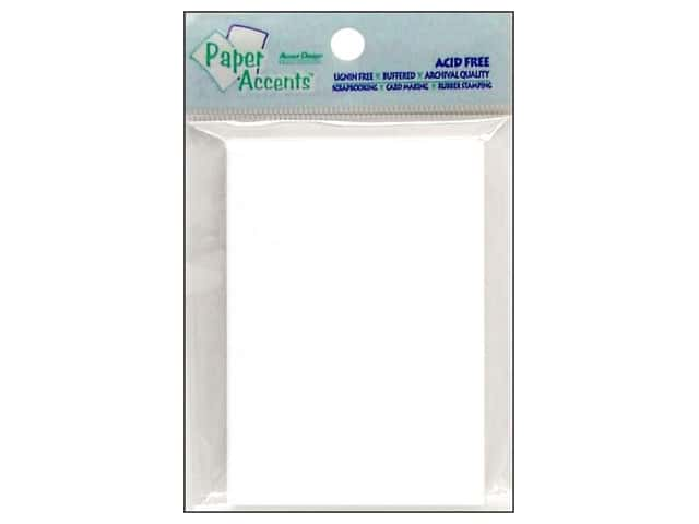 Trading Cards by Paper Accents 2 1/2 x 3 1/2 in. White 50 pc.