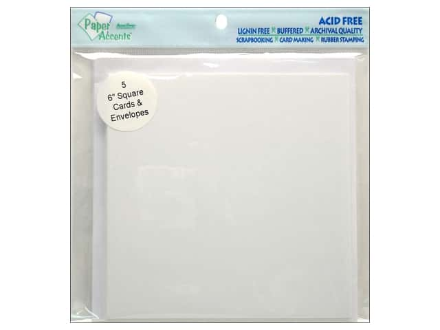 6 x 6 in. Blank Card & Envelopes by Paper Accents 5 pc. White