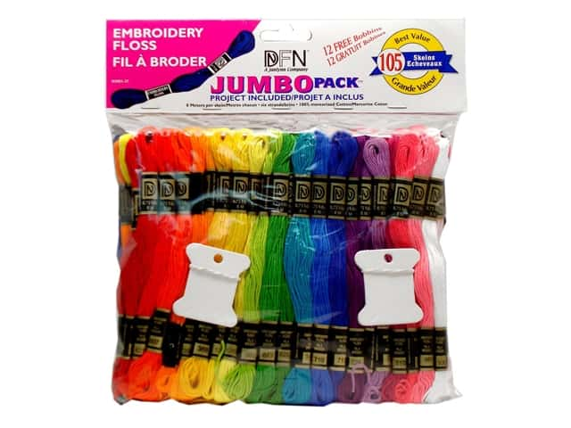 Janlynn Embroidery Floss Jumbo Pack 105 pc.