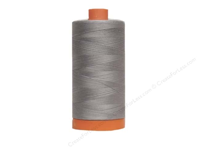 Aurifil Mako Cotton Quilting Thread 50 wt. #2605 Grey 1420 yd.