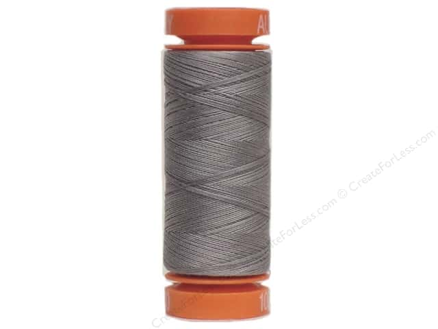 Aurifil Mako Cotton Quilting Thread 50 wt. #2605 Medium Grey 220 yd.