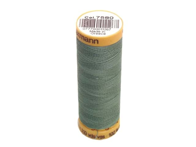 Gutermann 100% Natural Cotton Sewing Thread 109 yd. #7580 Cloudy Jade