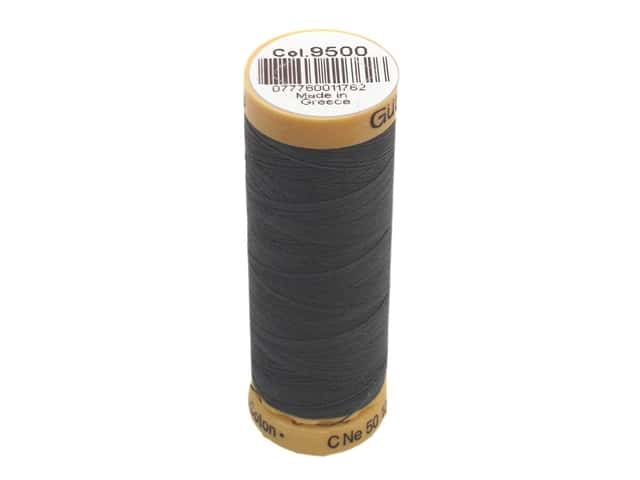 Gutermann 100% Natural Cotton Sewing Thread 109 yd. #9500 Charcoal