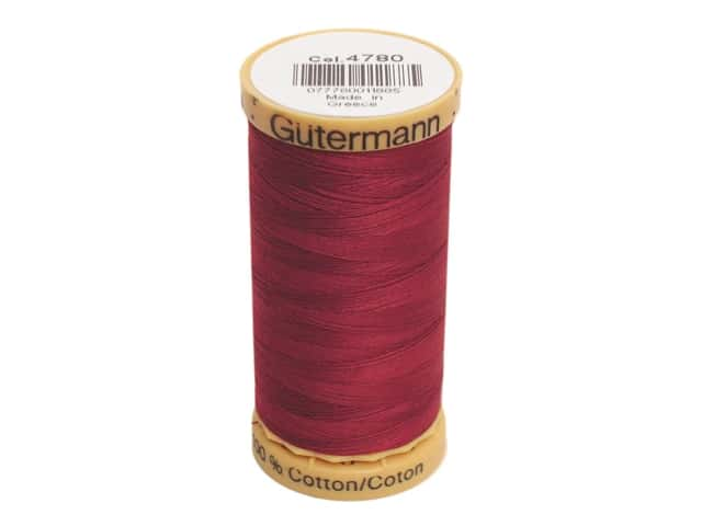 Gutermann 100% Natural Cotton Sewing Thread 273 yd. #4780 Wine