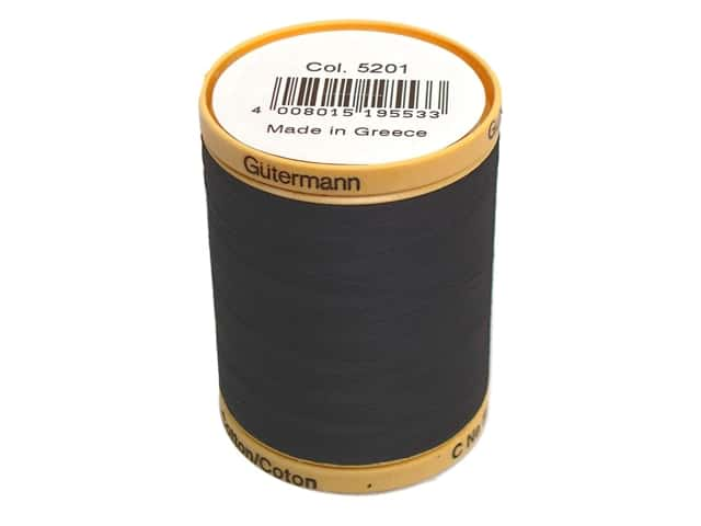 Gutermann 100% Natural Cotton Sewing Thread 875 yd. #5201 Black