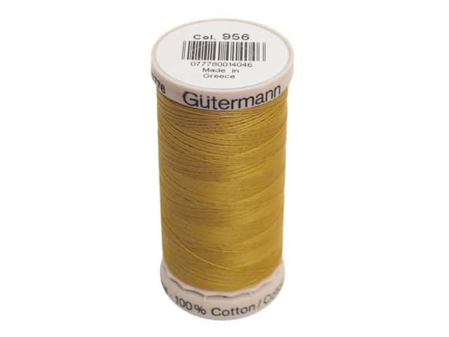 Gutermann Hand Quilting Thread 220 yd. #956 Old Gold