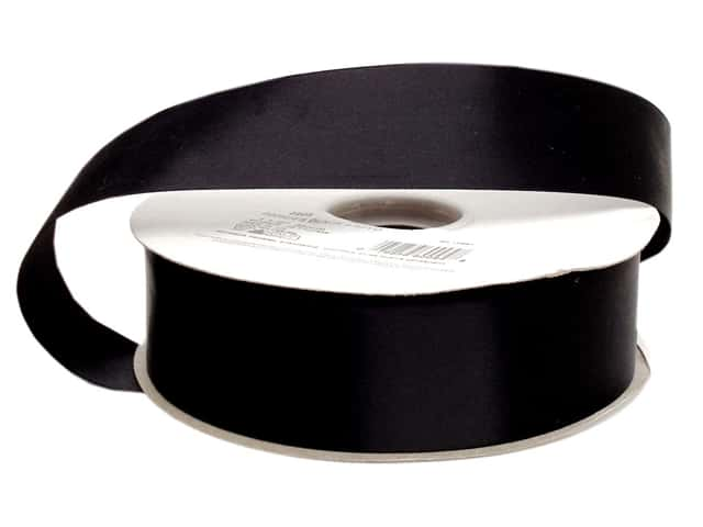 Offray Double Face Satin Ribbon 1 1/2 in. x 50 yd. Black (50 yards)