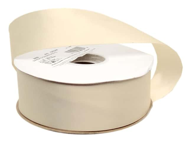 Offray Double Face Satin Ribbon 1 1/2 in. x 50 yd. Cream (50 yards)