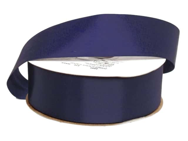 Offray Double Face Satin Ribbon 1 1/2 in. x 50 yd. Navy