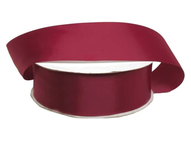 Offray Double Face Satin Ribbon 1 1/2 in. x 50 yd. Wine (50 yards)