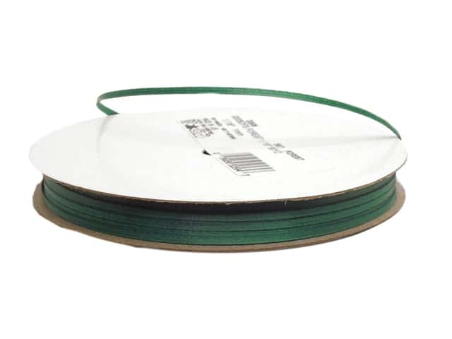 Offray Double Face Satin Ribbon 1/16 in. x 50 yd. Forest (50 yards)