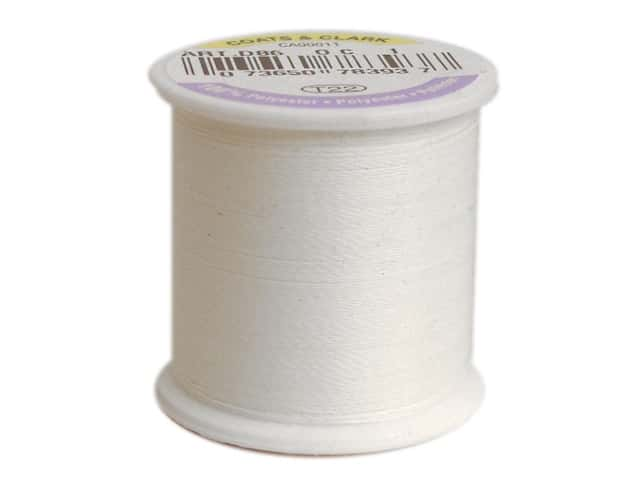 Coats & Clark Glow In The Dark Thread 100yd White