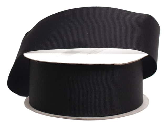 Offray Grosgrain Ribbon 1 1/2 in. x 10 yd. Black (10 yards)