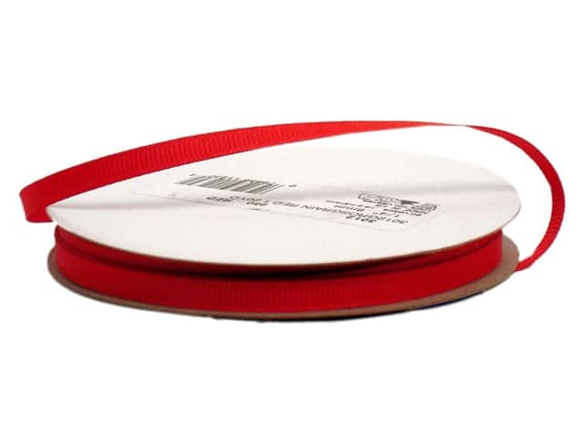 Offray Grosgrain Ribbon 1/4 in. x 20 yd. Red (20 yards)