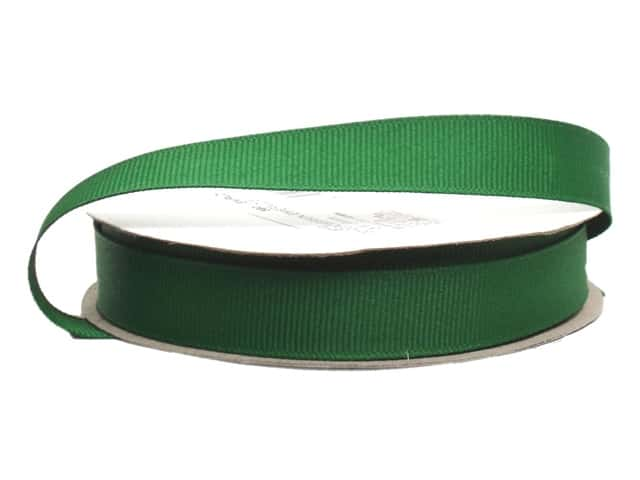 Offray Grosgrain Ribbon 5/8 in. x 20 yd. Emerald (20 yards)