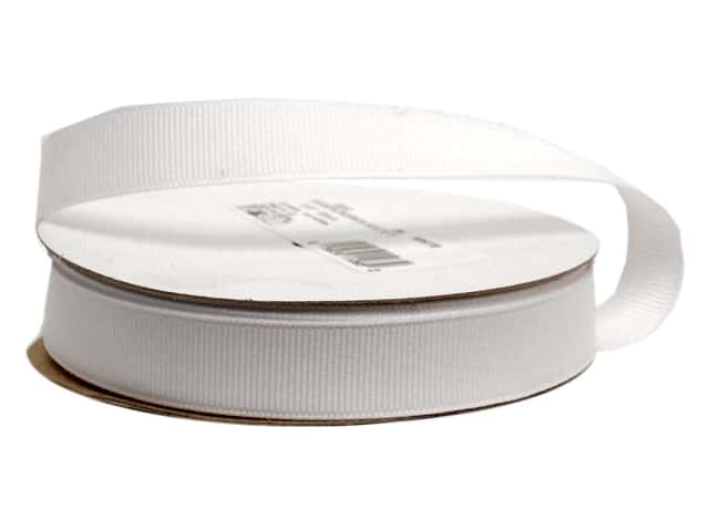 Offray Grosgrain Ribbon 5/8 in. x 20 yd. White (20 yards)