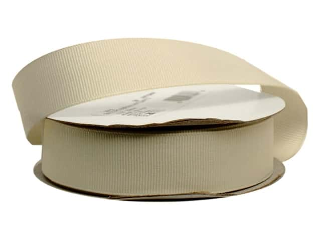 Offray Grosgrain Ribbon 7/8 in. x 20 yd. Antique White (20 yards)