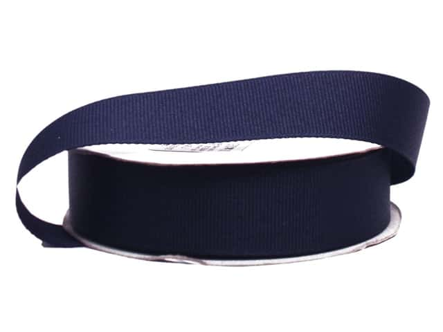 Offray Grosgrain Ribbon 7/8 in. x 20 yd. Navy (20 yards)