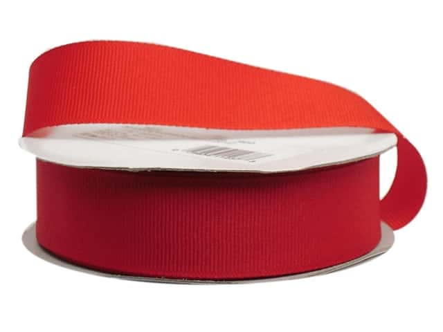 Offray Grosgrain Ribbon 7/8 in. x 20 yd. Red (20 yards)