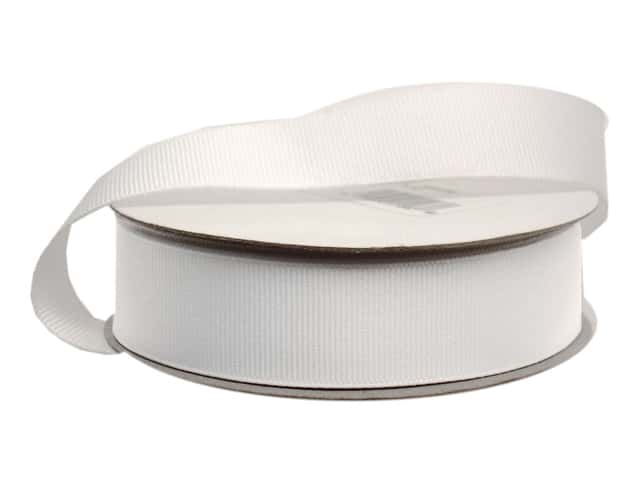 Offray Grosgrain Ribbon 7/8 in. x 20 yd. White (20 yards)