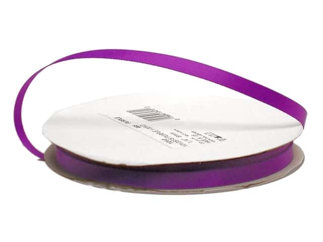 Offray Single Face Satin Ribbon 1/4 in. x 20 yd. Purple (20 yards)