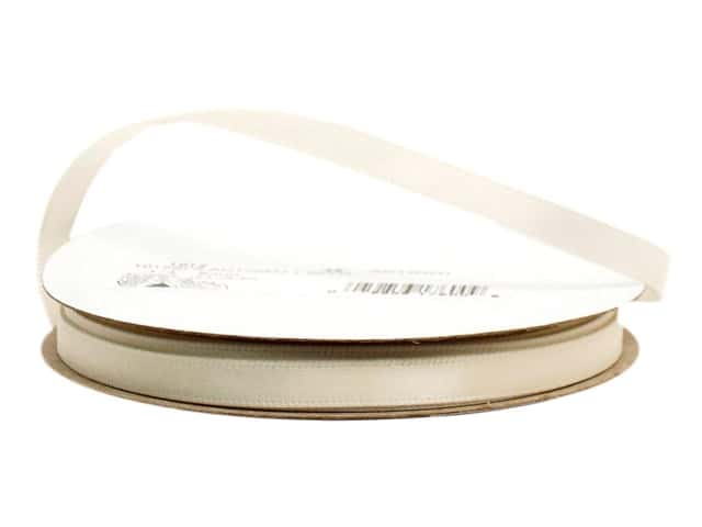 Offray Single Face Satin Ribbon 1/4 in. x 20 yd. Antique White (20 yards)