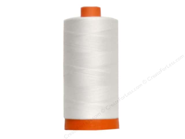 Aurifil Mako Cotton Quilting Thread 50 wt. #2021 Natural White 1420 yd.