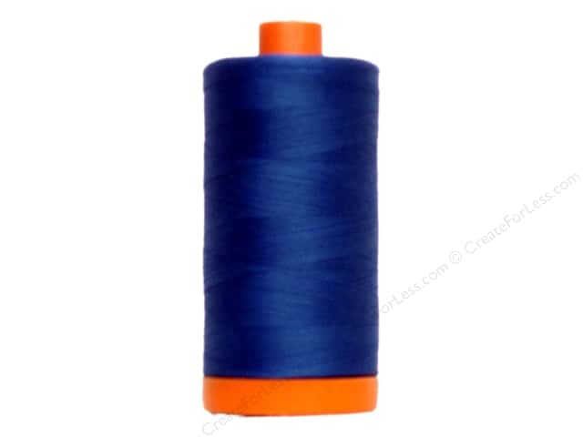 Aurifil Mako Cotton Quilting Thread 50 wt. #2735 Medium Blue 1420 yd.