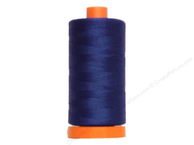 Aurifil Mako Cotton Quilting Thread 50 wt. #2780 Dark Delft Blue 1420 yd.