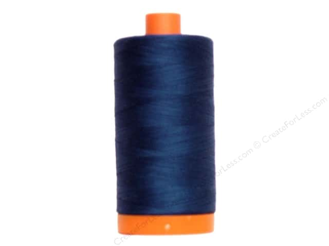 Aurifil Mako Cotton Quilting Thread 50 wt. #2783 Medium Delft Blue 1420 yd.