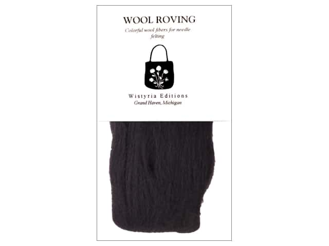 "Wistyria Editions 100% Wool Roving 12"" Black"