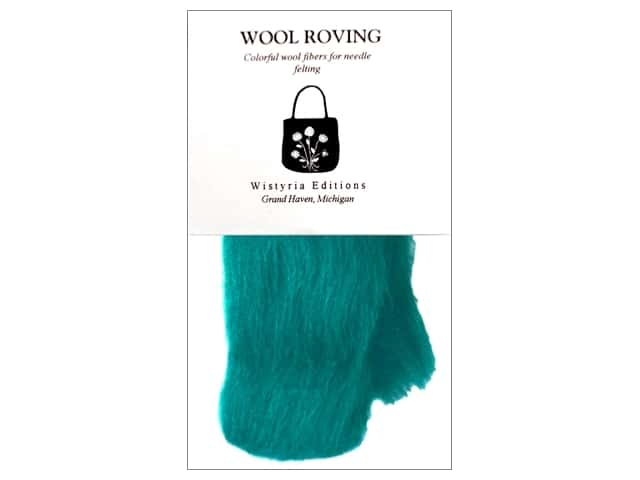 Wistyria Editions Wool Roving 12 in. Turquoise