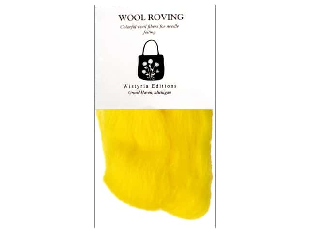 "Wistyria Editions 100% Wool Roving 12"" Yellow"