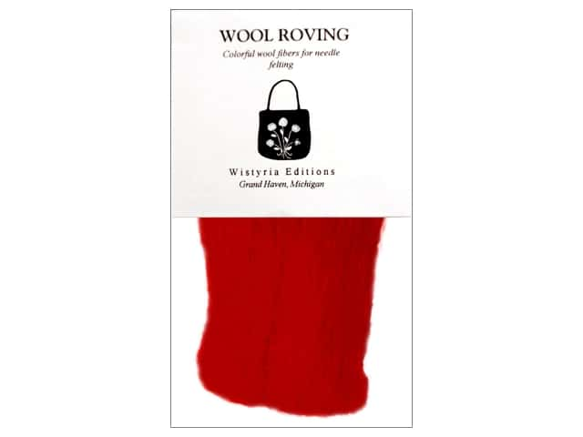 Wistyria Editions Wool Roving 12 in. Red