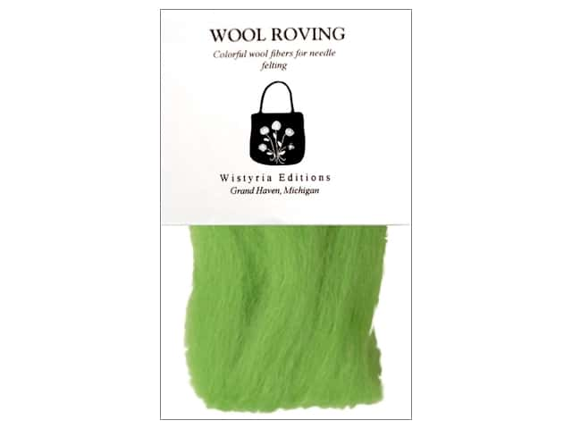 Wistyria Editions Wool Roving 12 in. Lime