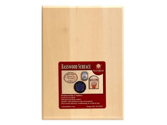 Walnut Hollow Basswood Thin Rectangle Plaque 5 x 7 in.