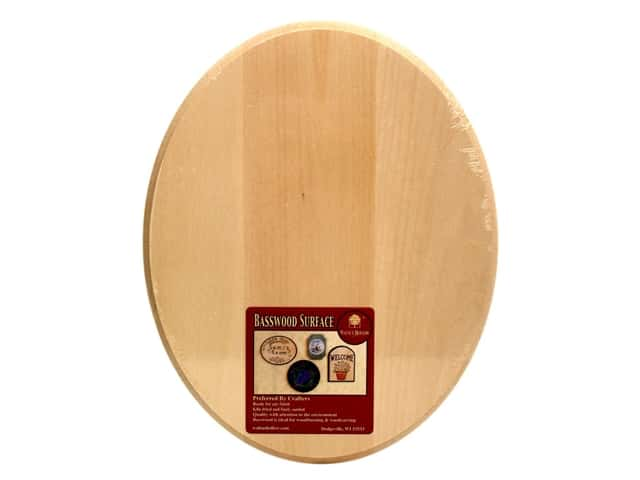 Walnut Hollow Basswood Oval Plaque 8 x 10 in.