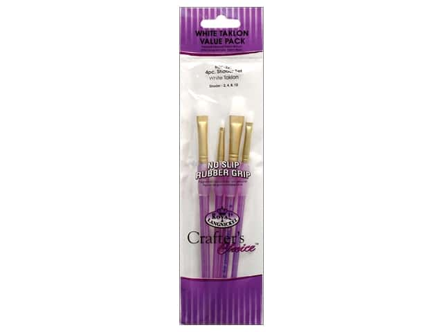 Royal Crafter's Choice Brush White Taklon Shader Set 221